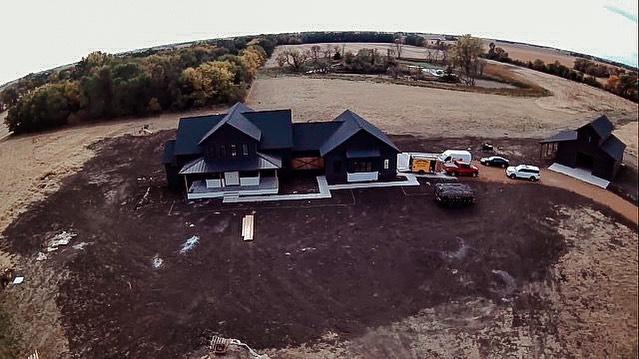 DeBoer's Home Build Aerial View