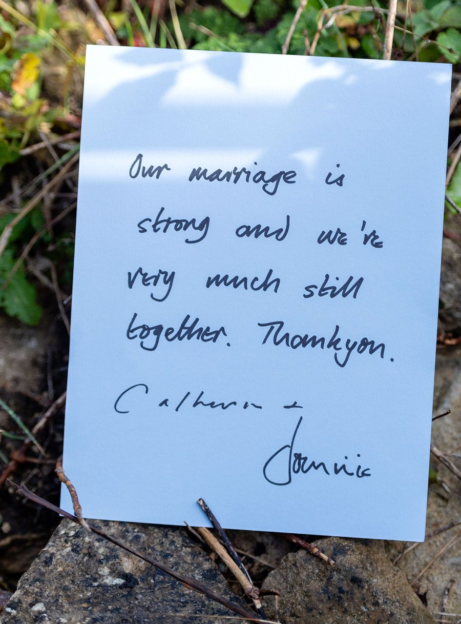 Dominic West and Catherine FitzGerald Statement Note
