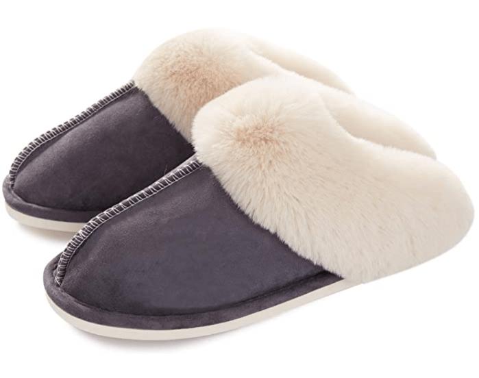 Donpapa Store Zapatillas de casa para mujer con diseño de espuma viscoelástica, esponjosas, suaves y cálidas