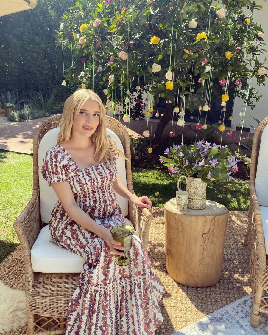Emma Roberts Magical Garden Baby Shower