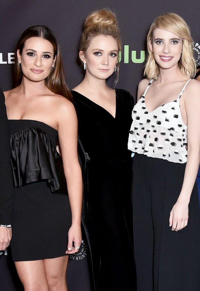 Emma Roberts dice que estar embarazada al mismo tiempo que Lea Michele y Billie Lourd fue pura brujería '