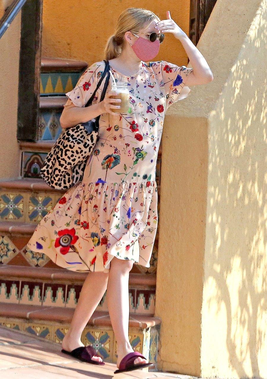 Emma Roberts pregnant photoshoot