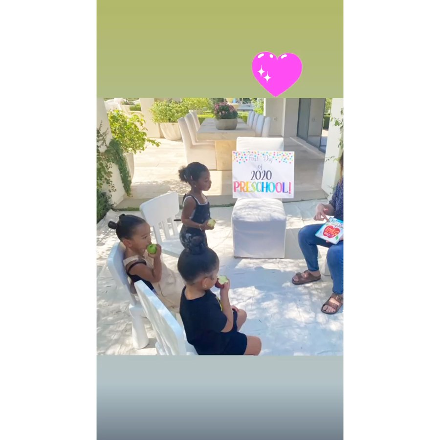 Stormi Webster Chicago West and True Thompson Inside the Kardashian Jenner Kids First Day of Preschool