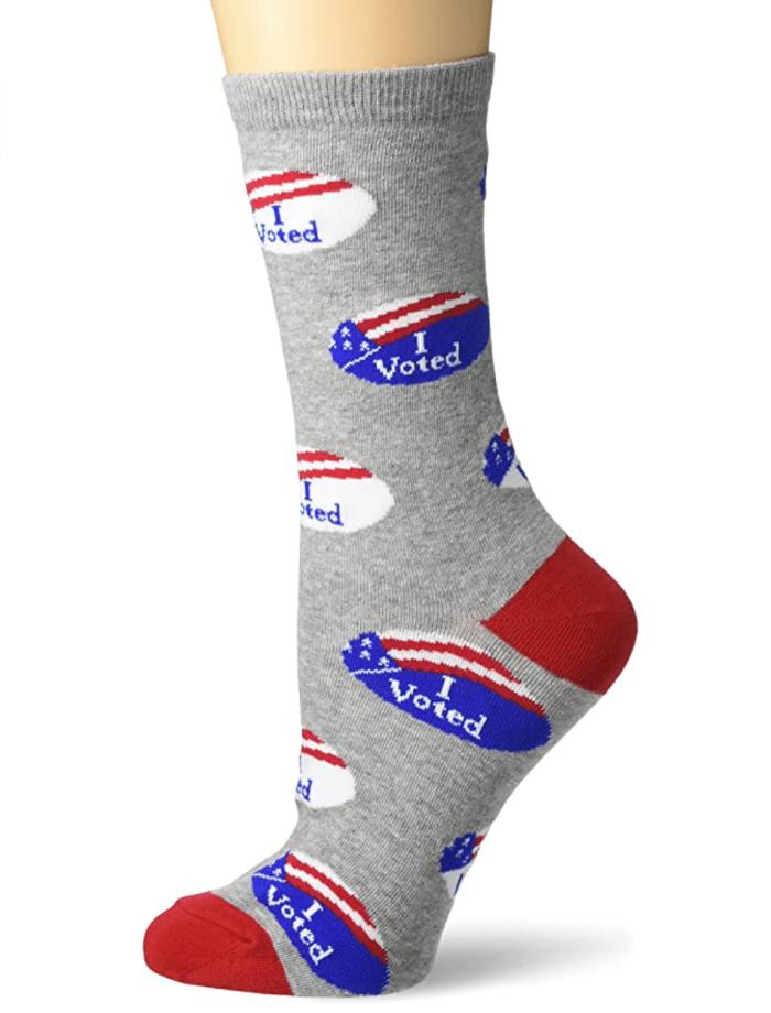 K. Bell Women's Political Party Novelty Crew Socks