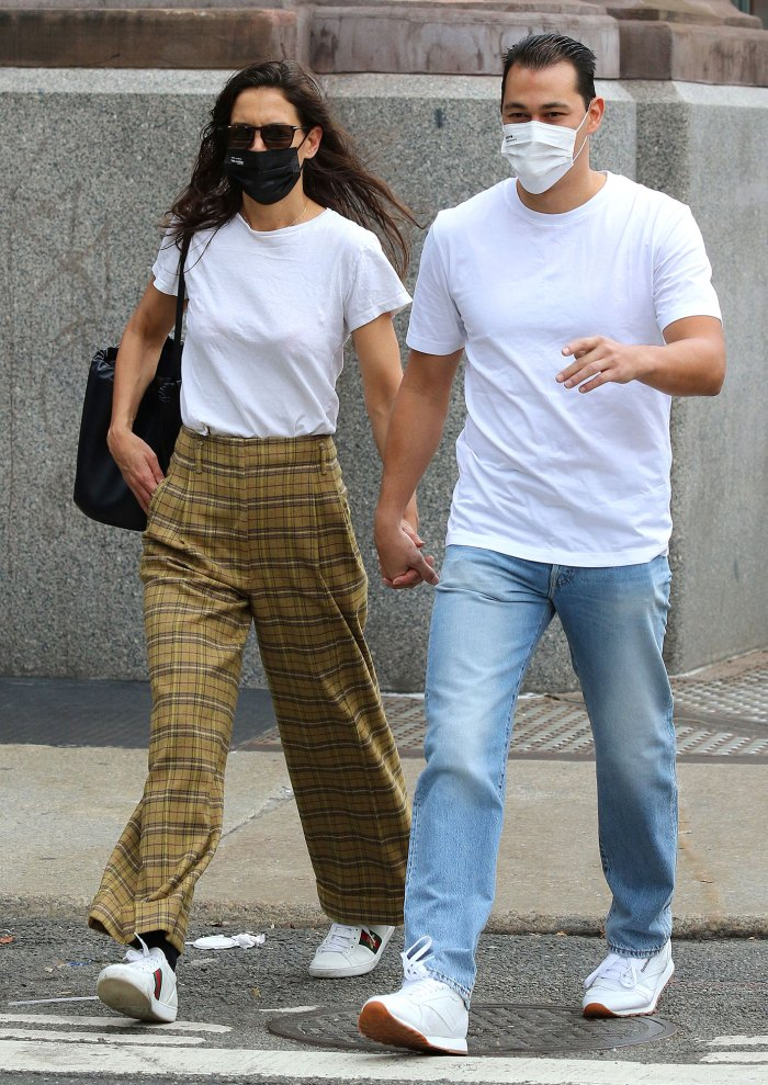 Katie Holmes and Boyfriend Emilio Vitolo Jr. Step Out in NYC in Matching Tees and Sneakers