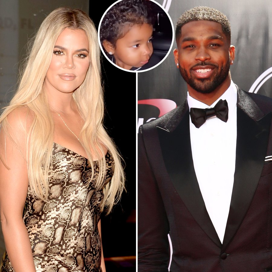 Khloe Kardashian and Tristan Thompson Take Daughter True to Halloween Event