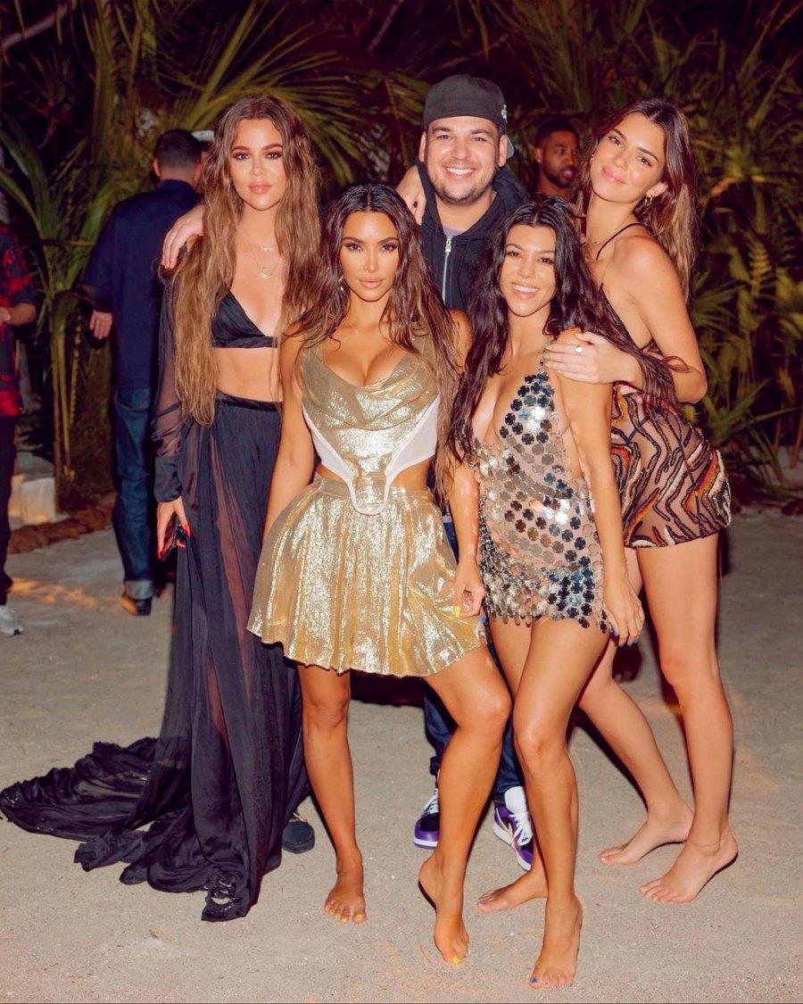 Kim Kardashian 40th Birthday Party Private Island Family Kourtney Kylie Rob
