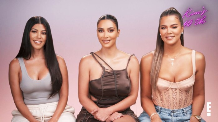 Kourtney Kardashian Kim Kardashian and Khloe Kardashian Kim Kardashian family shock them with 40th birthday party