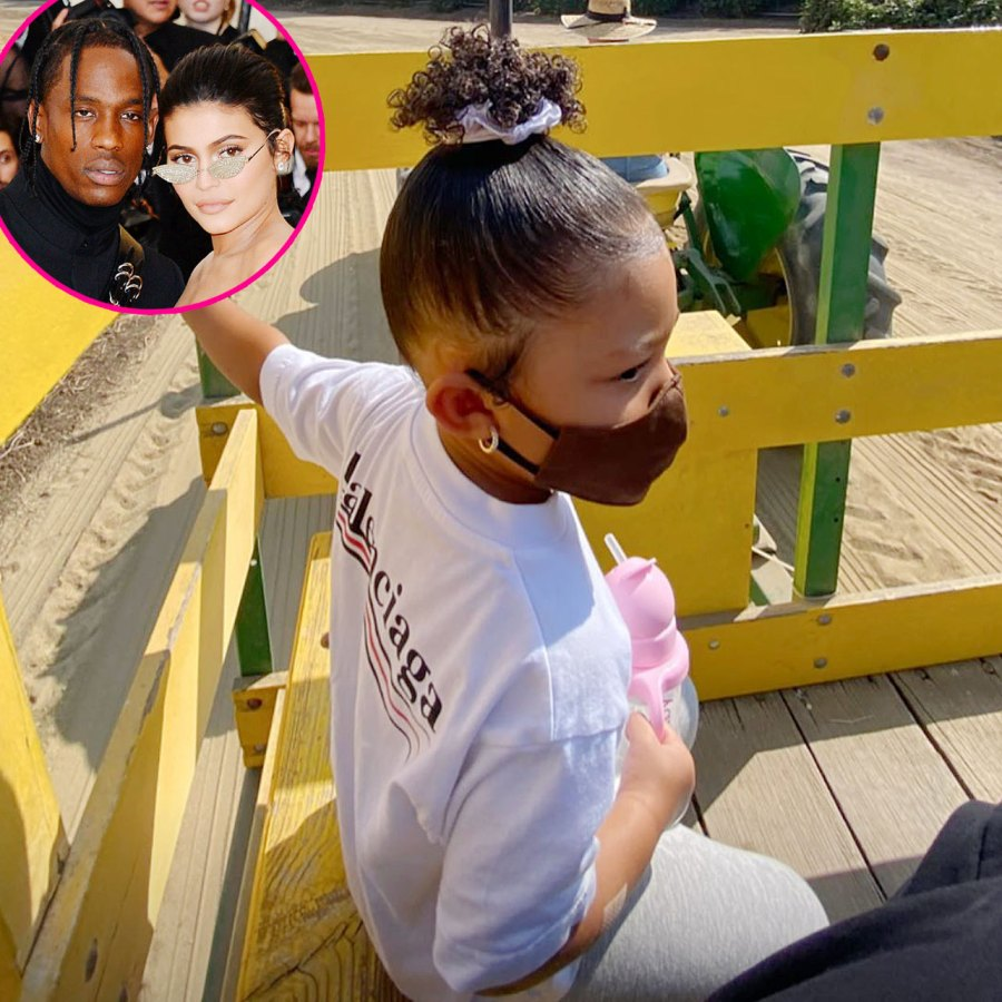 Kylie Jenner and Travis Scott Take Daughter Stormi to the Pumpkin Patch
