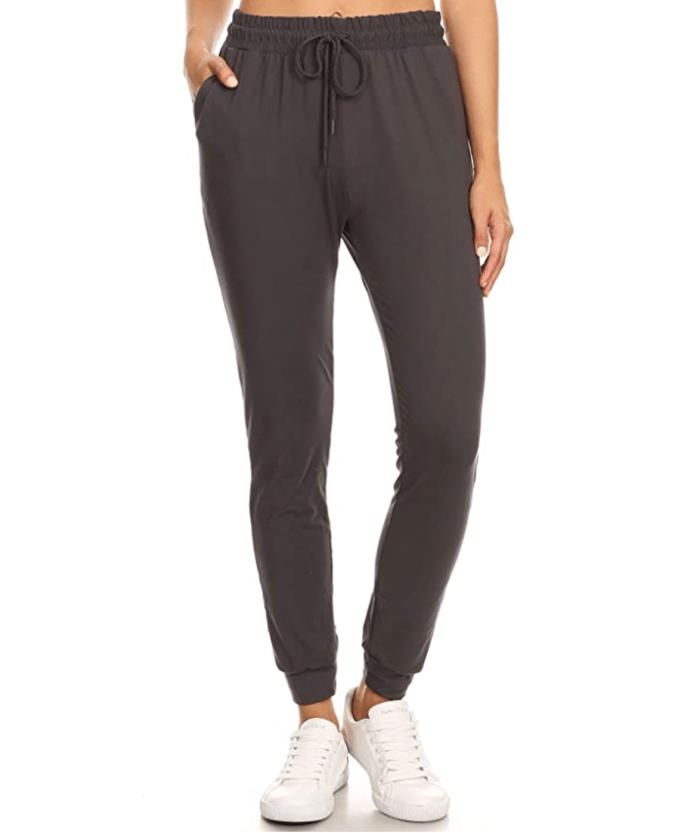 Pantalón de chándal suave para juniors LA12ST para mujer (carbón)