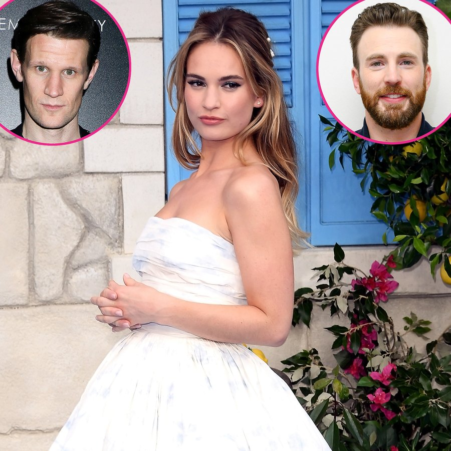 Lily James Dating History Matt Smith Chris Evans