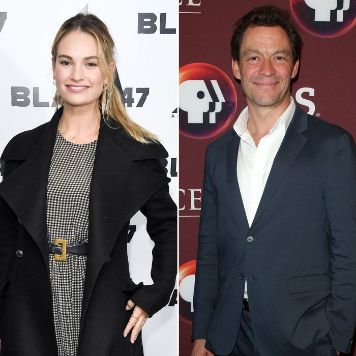 Lily James and Dominic West Cuddle at Rome Airport