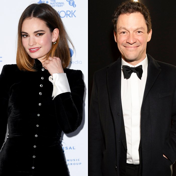 Lily James y Dominic West siempre coquetearon en el set