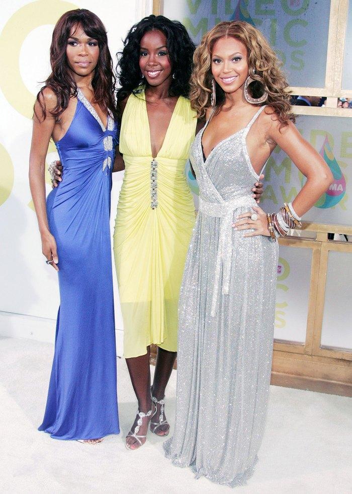 Michelle Williams Kelly Rowland y Beyonce Knowles de Destinys Child en los MTV Video Music Awards en 2005