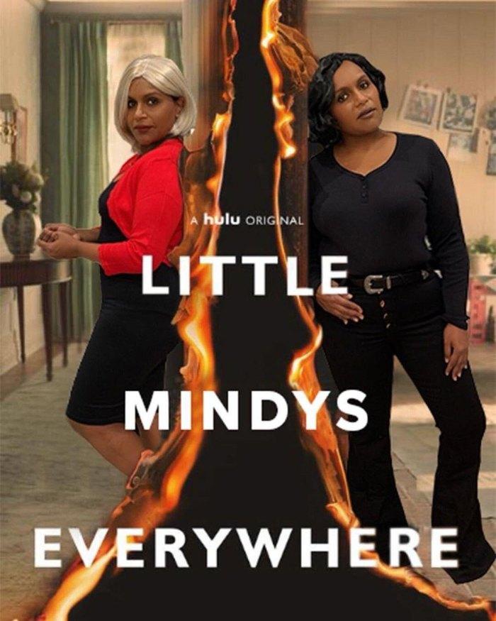 Mindy Kaling se viste de los personajes de Halloween Little Fires Everywhere