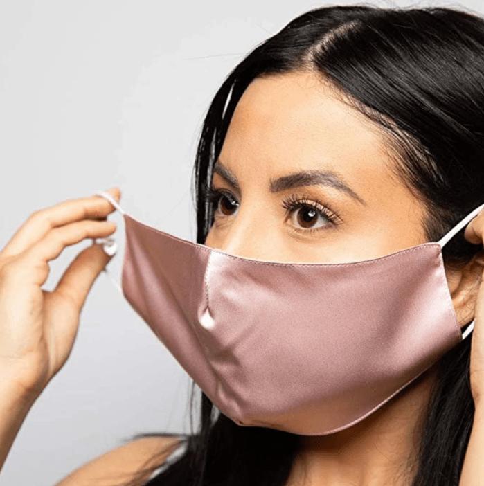Máscaras faciales sensibles reutilizables de seda de morera para mujeres