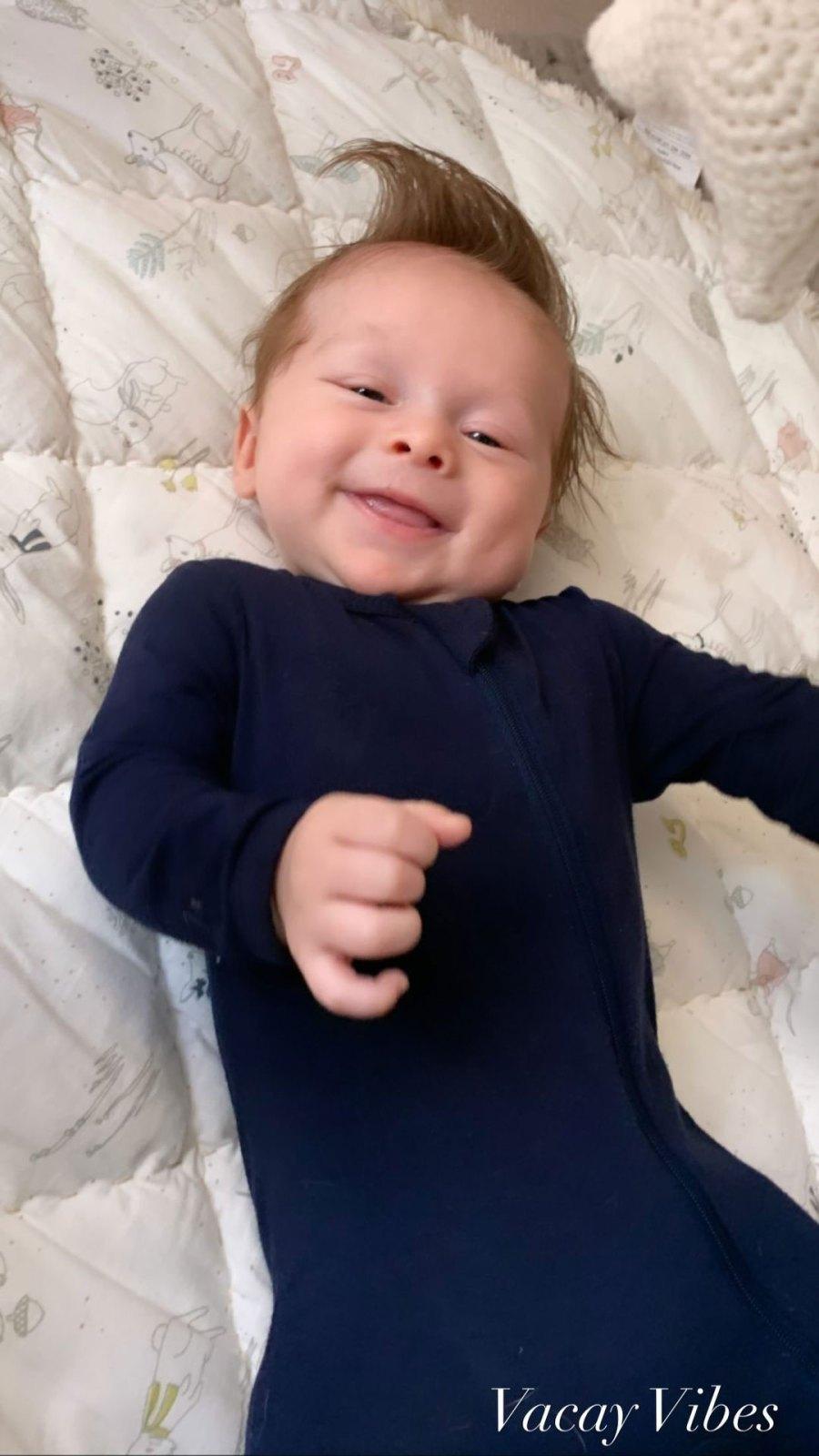 Nikki Bella and Artem Chigvintsev Son Matteo Smiling