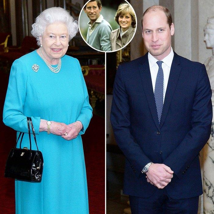 Cómo la reina Isabel II salvó al príncipe Guillermo de la crisis después de la separación de la princesa Diana Príncipe Carlos