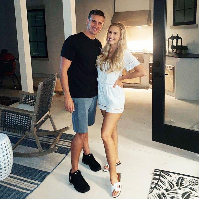 Ryan Lochte se burla de la posibilidad de tener un bebé número 3 con su esposa Kayla Rae Reid