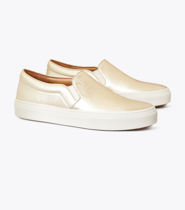 Zapatilla slip-on-metalizada