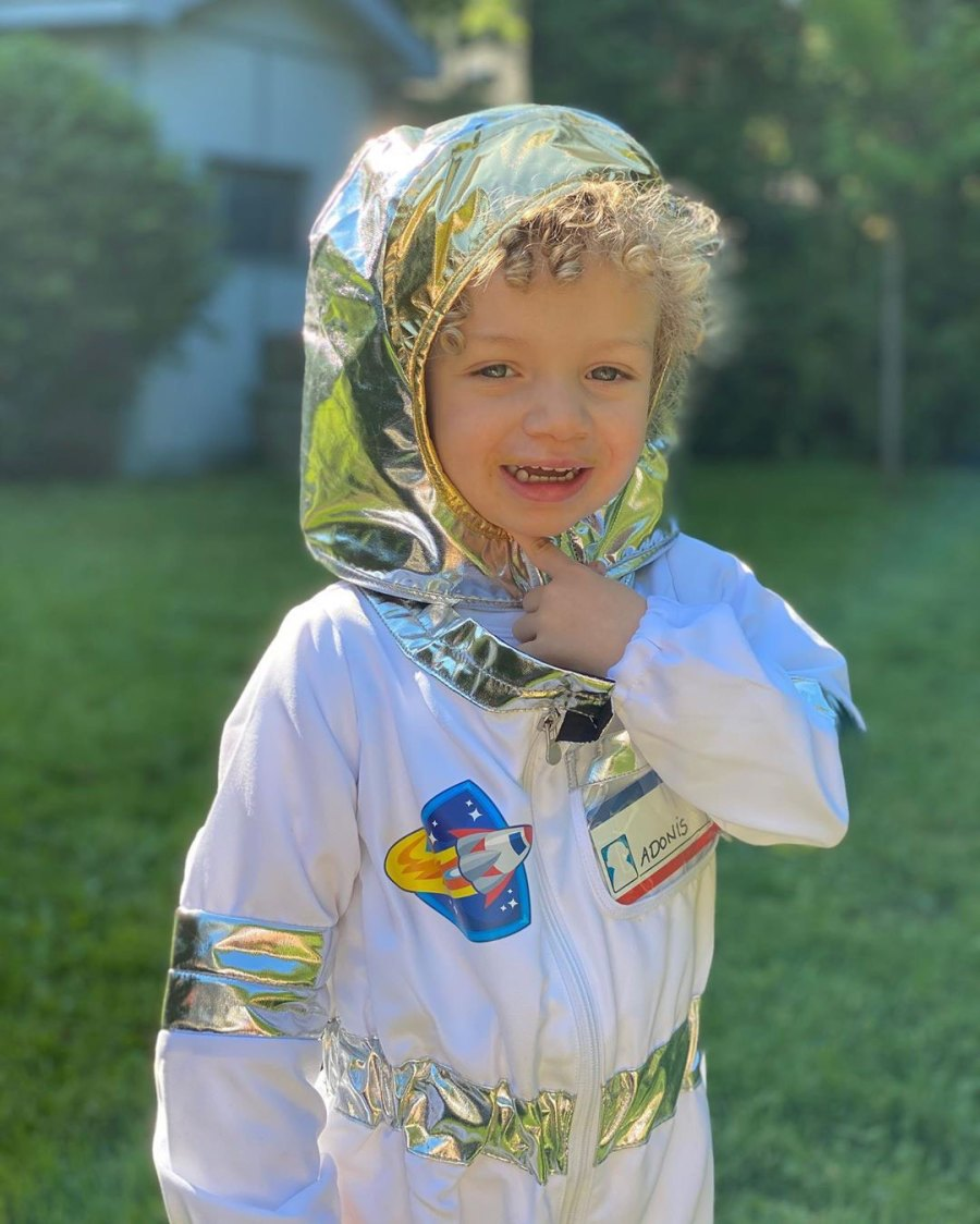 Sophie Brussaux and Adonis Birthday Halloween Costume Astronaut