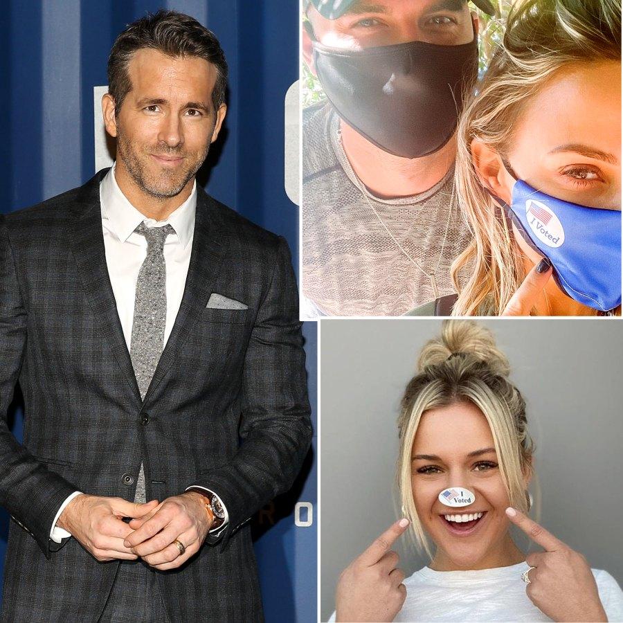 Celebs Who Are Voting First Time 2020 Ryan Reynolds Jana Kramer