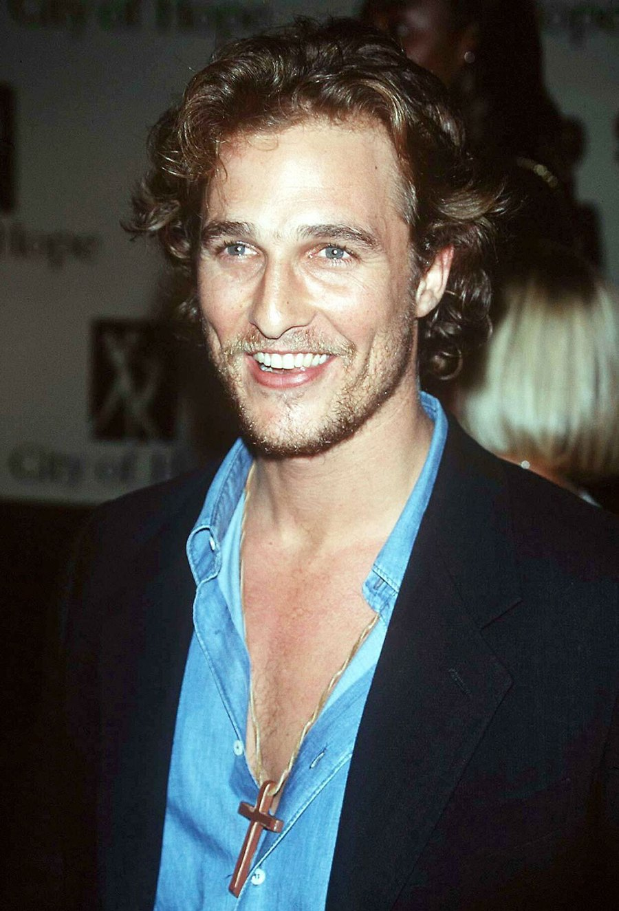 Matthew McConaughey Wearing A Cross Necklace in 1996 Things We Learned About Matthew McConaughey in His New Book Greenlights