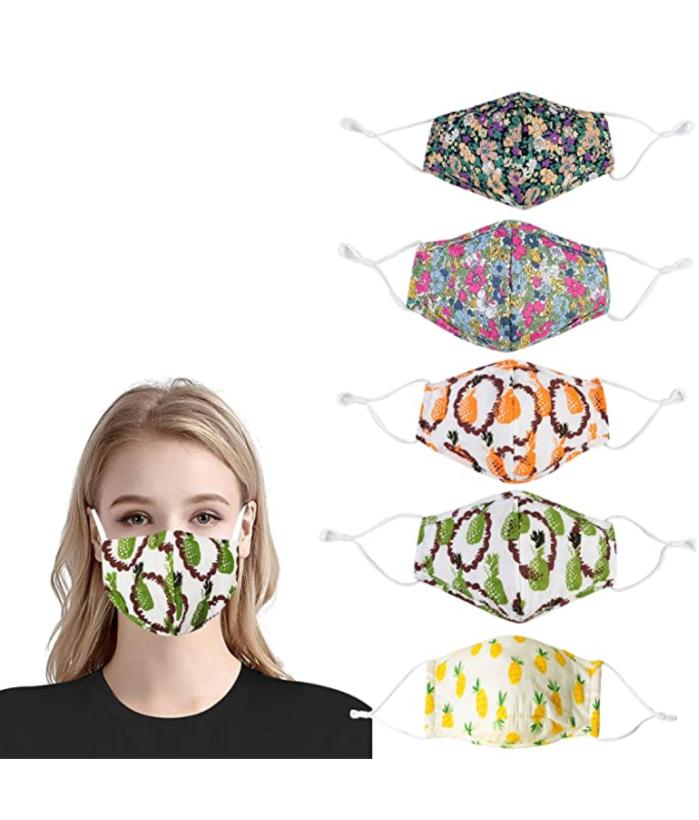 Cubierta facial de tela reutilizable ZFCGEE para mujer