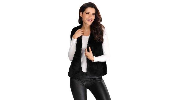 Caracilia Short Faux-Fur Vest