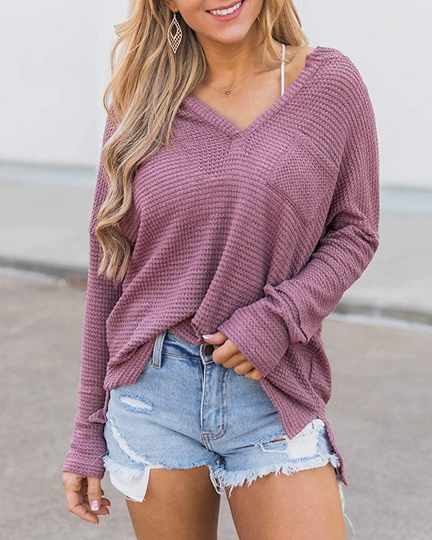 EFAN Waffle Knit Oversized Pullover