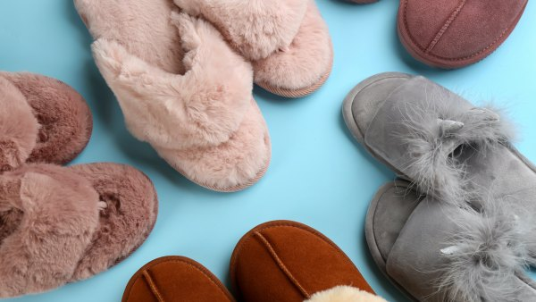 fuzzy-slippers-stock-photo
