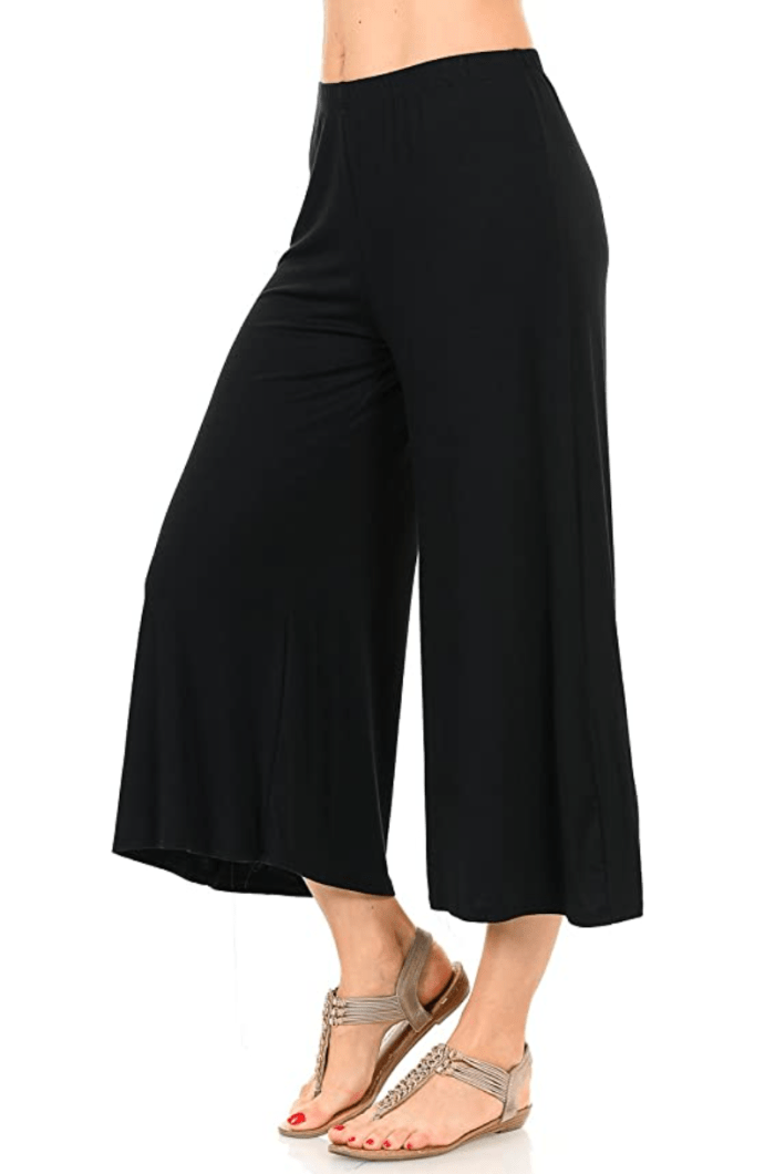 icónico luxe pantalones culottes de jersey con cintura elástica para mujer