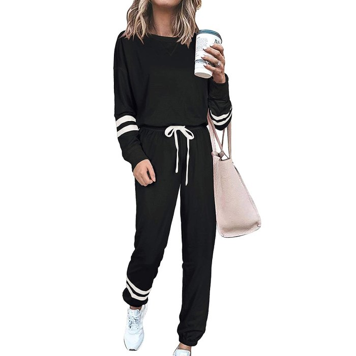 SIEANEAR 2-Piece Loungewear Sweatsuit Set