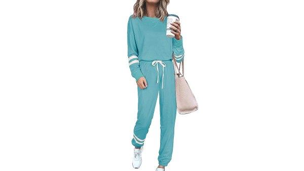 SIEANEAR 2-Piece Loungewear Sweatsuit Set