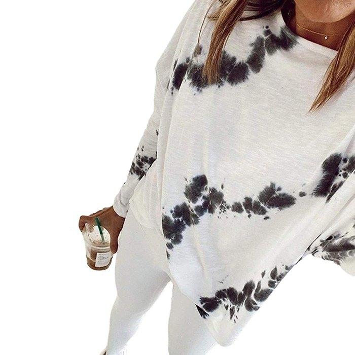 zeyubird camiseta blanca con efecto tie-dye
