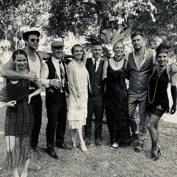 Liam Hemsworth y su novia Gabriella Brooks celebran el cumpleaños de su hermano Luke