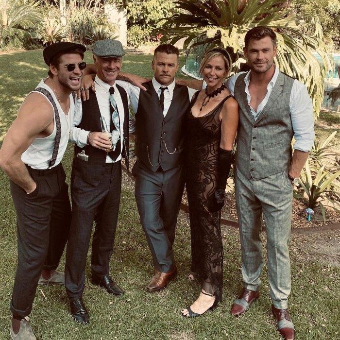 Liam Hemsworth and Girlfriend Gabriella Brooks Celebrate His Brother Luke's Birthday