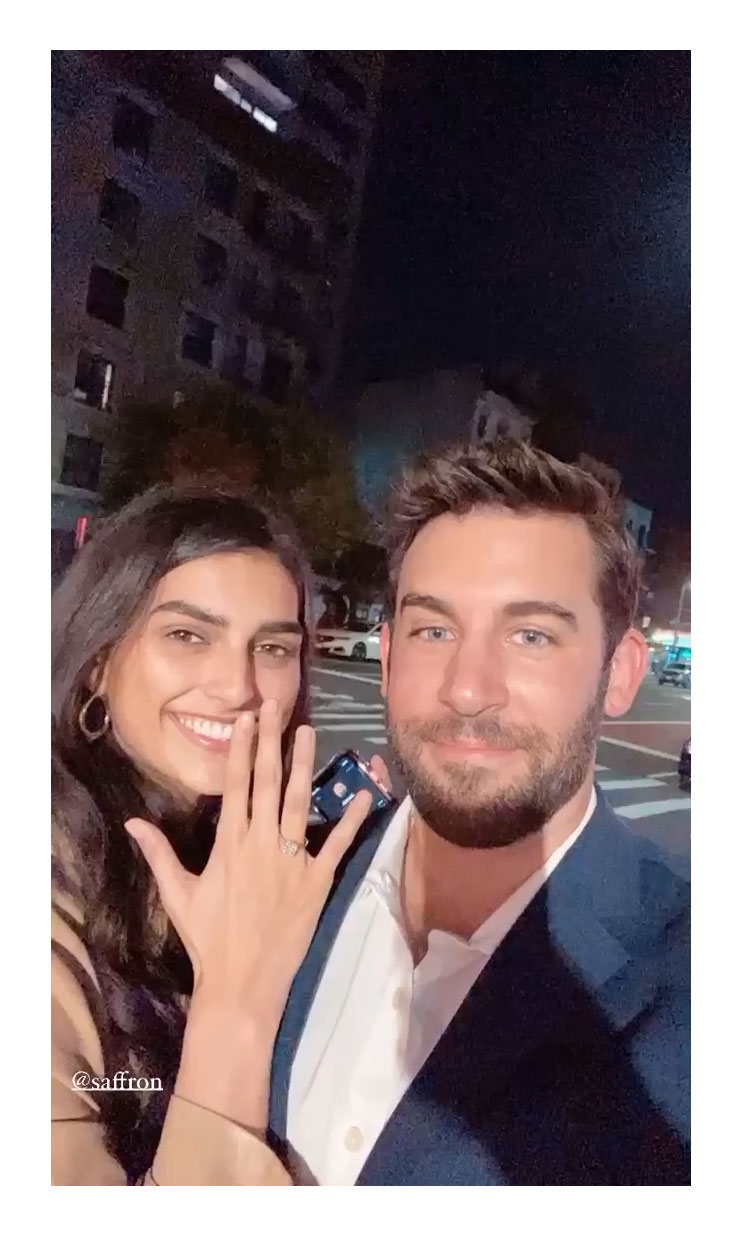 Bachelor in Paradise Derek Peth Is Engaged to Model Saffron Vadher