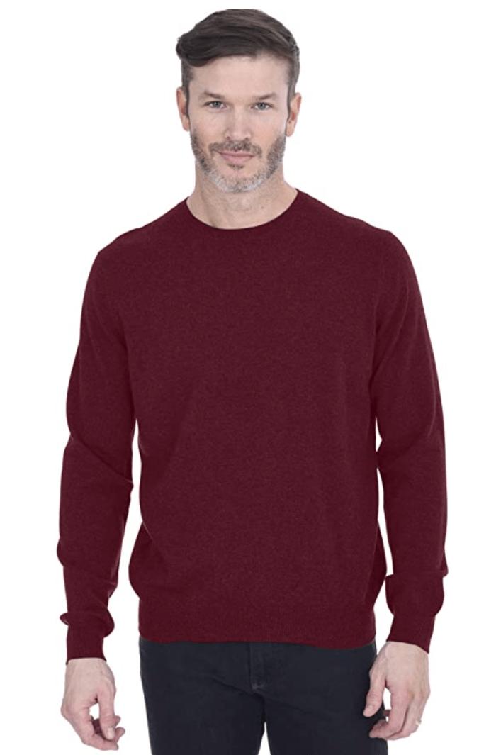 Suéter básico de cuello redondo de cachemir para hombre 100% cachemir puro
