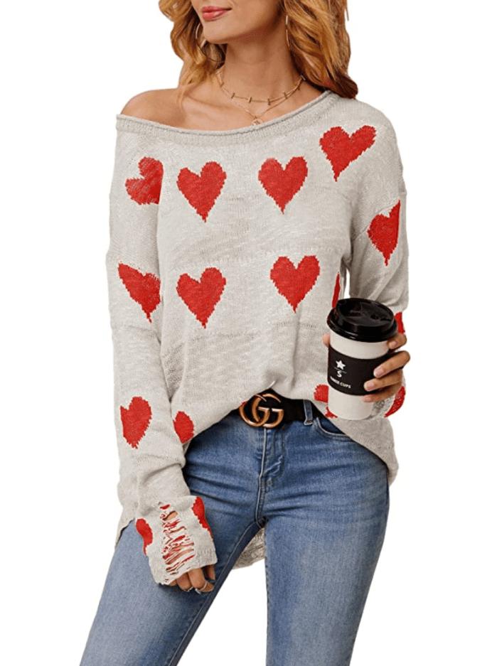 Suéter de punto con hombros descubiertos para mujer de Chang Yun