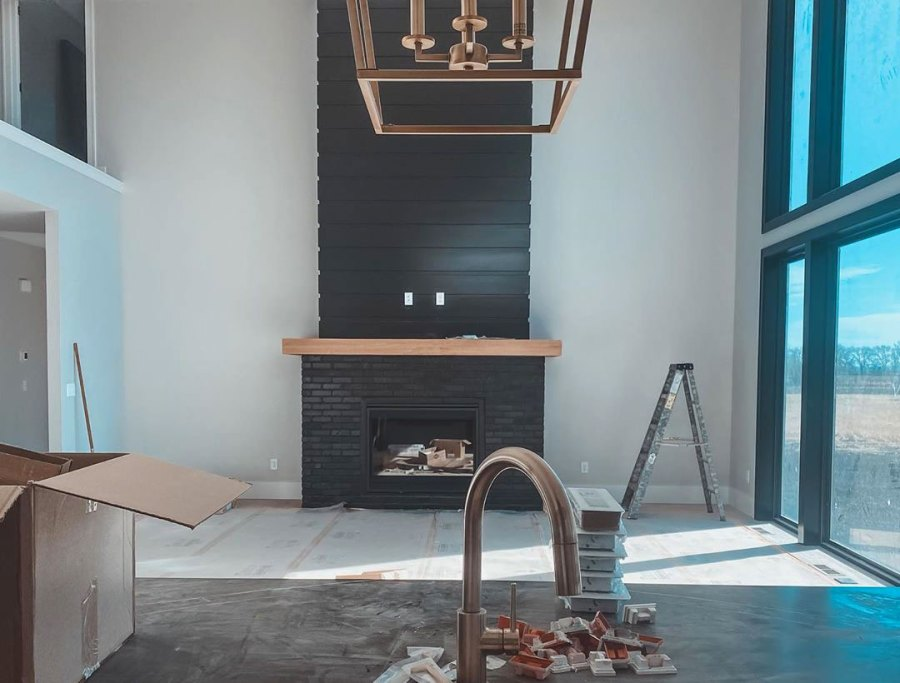 Chelsea DeBoer Cole DeBoer Home Build Fireplace