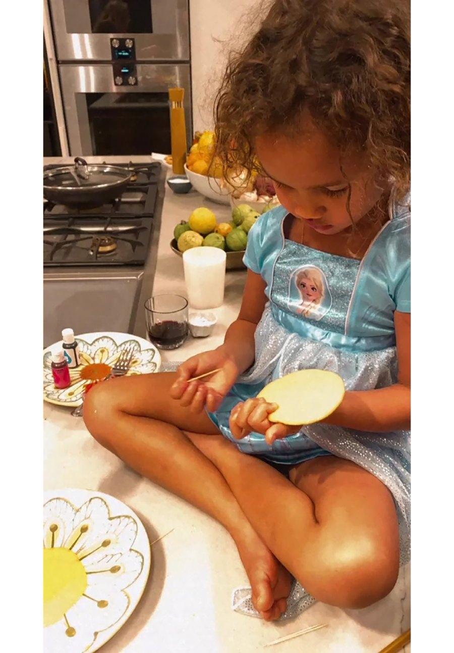 Elsa! Ariel! See Chrissy Teigen's Daughter Luna Rocking Princess Dresses