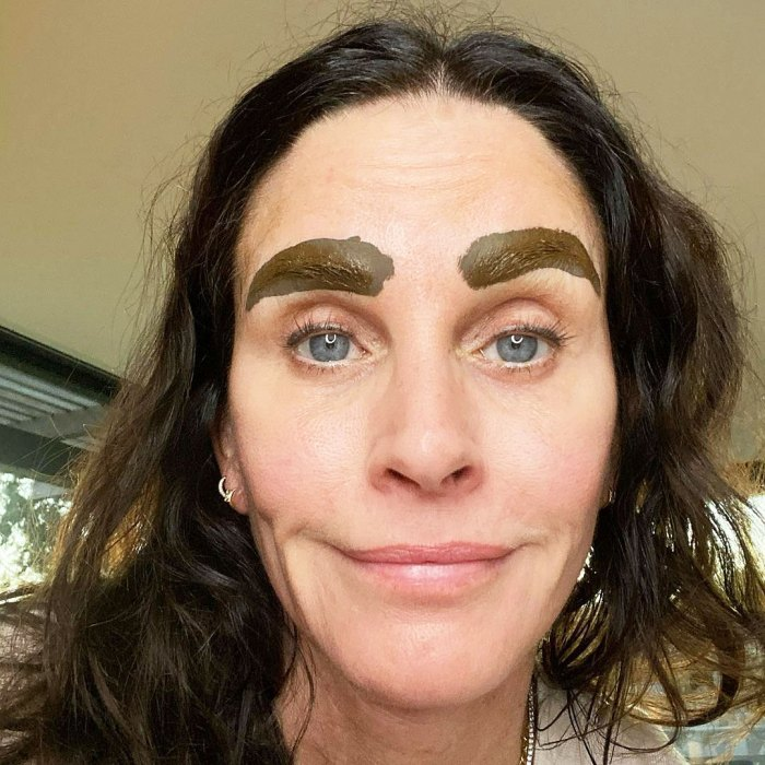 Courteney Cox Shares Snap of Microbladed Brows and Stars Cannot Get Enough