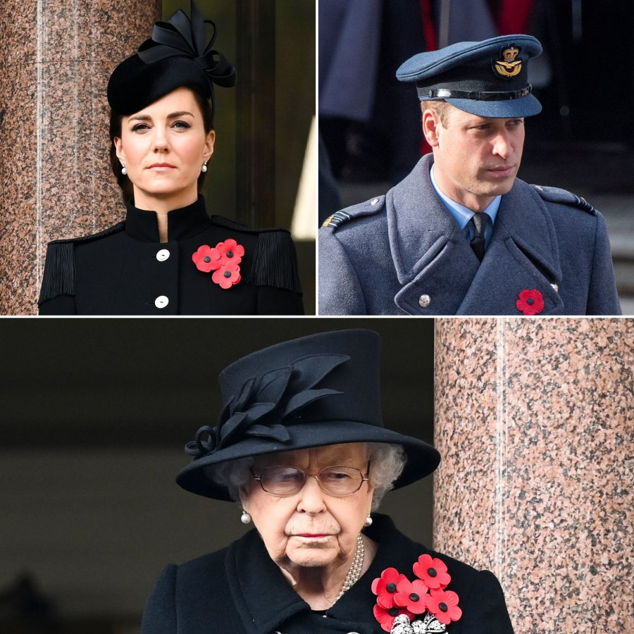 Duchess Kate, Prince William and More Royals Join Queen Elizabeth II at Remembrance Day Ceremony