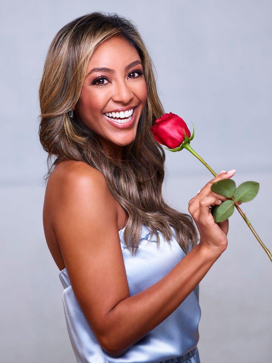 Feature Everything Bachelorette Tayshia Adams Has Said About Her Ex-Husband Josh