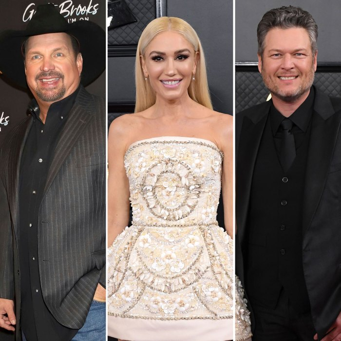 Garth Brooks Gwen Stefani Lucky to Be Engaged to Blake Shelton