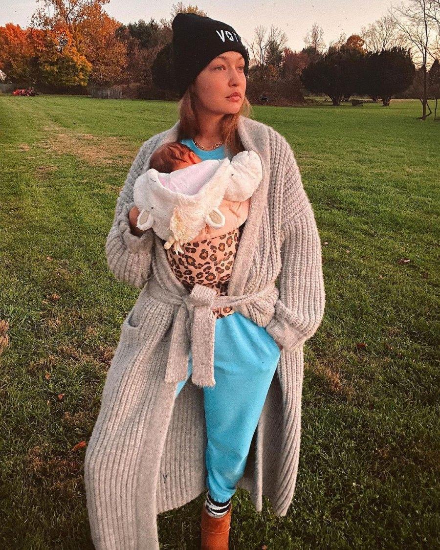 Gigi Hadid Shares Sweet Photos Cradling Her Daughter