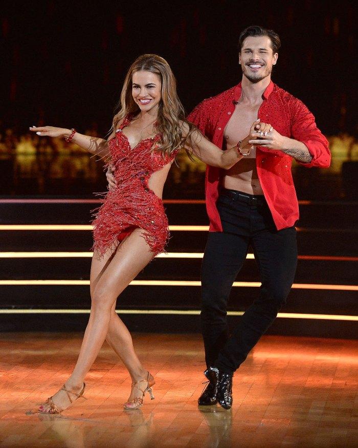 Gleb Savchenko All Smiles Dancing With The Stars Chrishell Stause