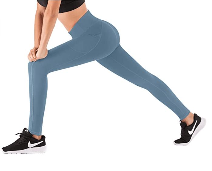 Pantalones de yoga de cintura alta con bolsillos IUGA