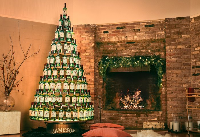 Árboles de Navidad de whisky irlandés Jameson
